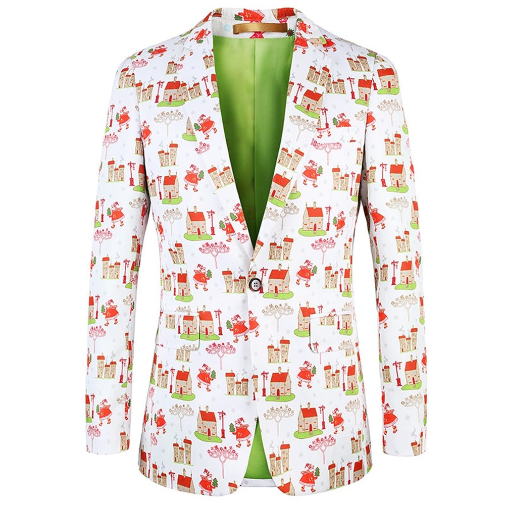 diecaprle 2017 Christmas Floral Blazer Fashion Men Suit Jackets