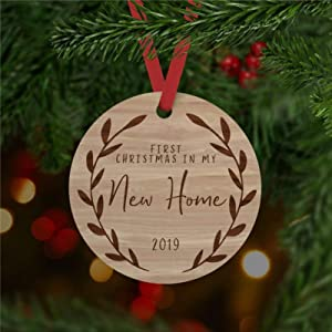 DONL9BAUER Our First Christmas in My New Home Christmas Ornaments Custom Hanging Ornament Xmas Tree Decorations Present for Family Friends 2020 A Year to Remember