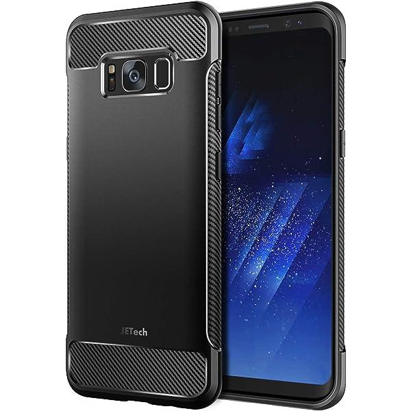 JETech Funda Compatible con Galaxy S8, Carcasa con Absorción de Impacto, Diseño de Fibra de Carbon (Negro): Amazon.es: Electrónica