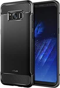 JETech Case for Samsung Galaxy S8 Plus S8+, Protective Cover with Shock-Absorption and Carbon Fiber Design
