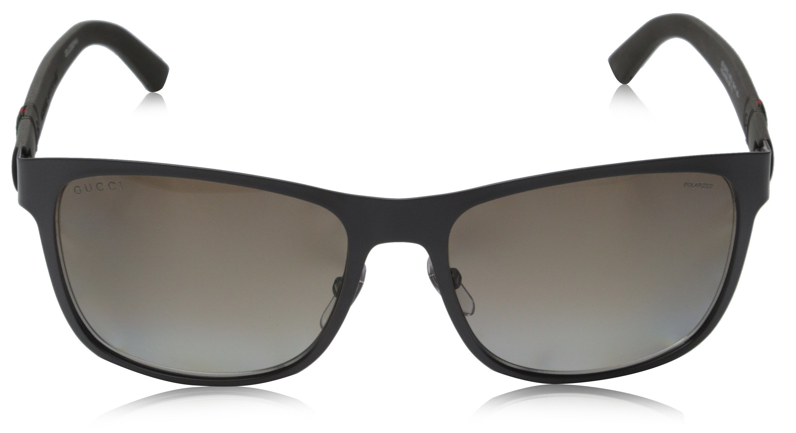 Gucci Men's GG 2247/S Matte Grey/Brown Polarized by Gucci (Image #2)