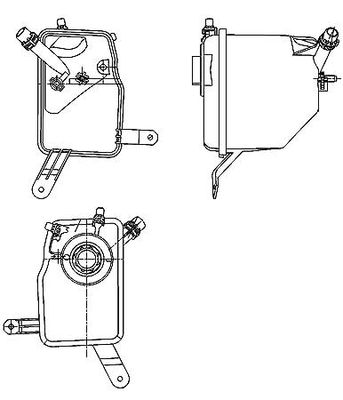 8MA 376 755-221 Ausgleichsbehälter für Kühlmittel Kühlwasser NEU HELLA