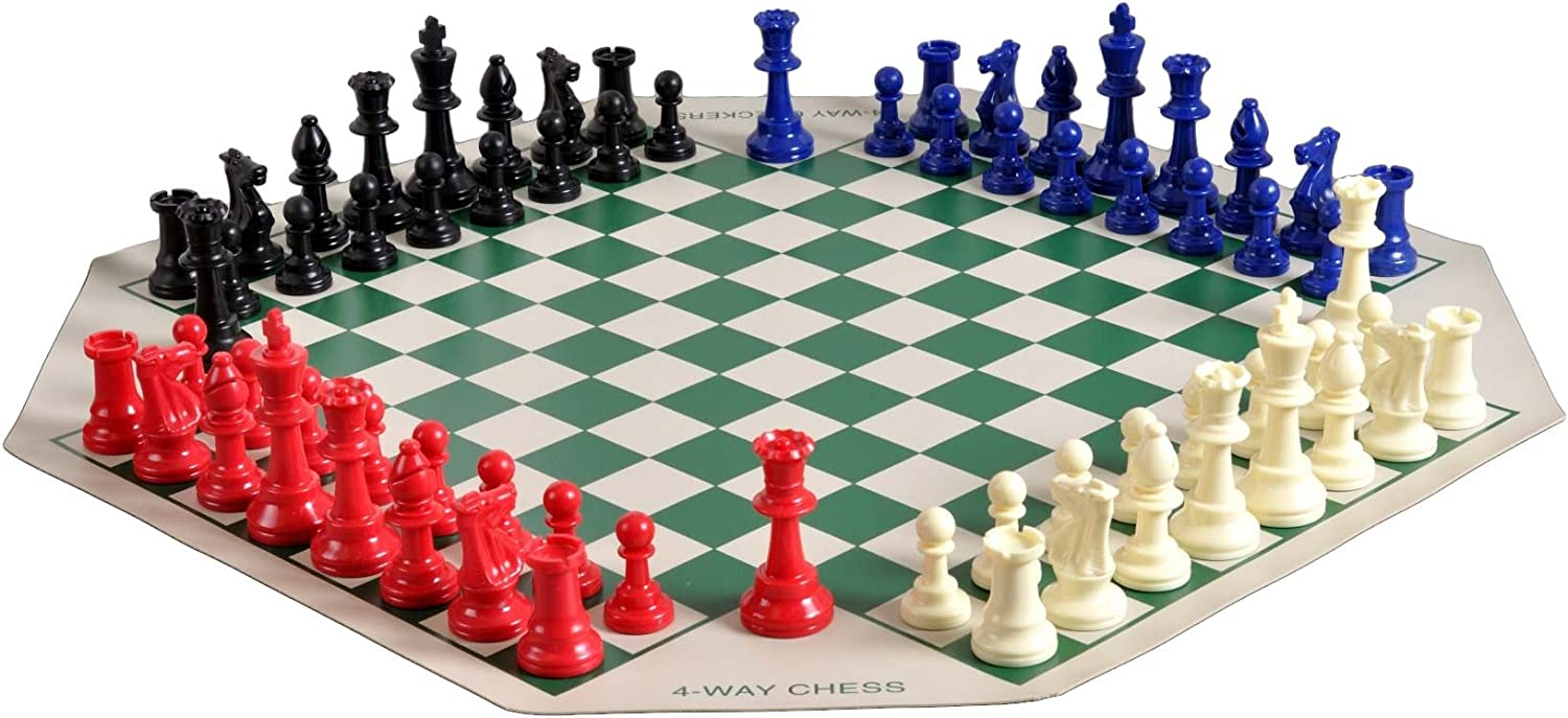 SINGLE WEIGHTED Regulation Tournament Chess Pieces and Chess Board Combo