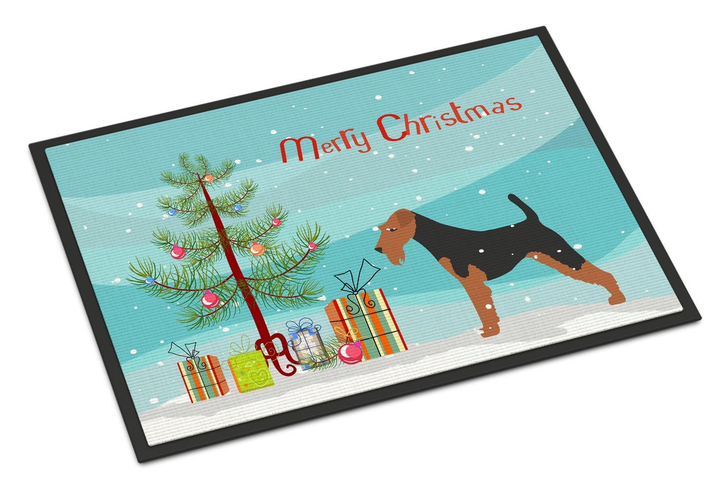 Carolines Treasures Bull Terrier Merry Christmas Tree Indoor or Outdoor Mat 24x36 BB2996JMAT 24 x 36 Multicolor