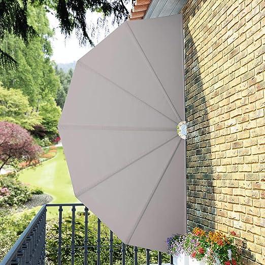 LITEBUF - Toldo Lateral Plegable para terraza (200 cm), Color Crema: Amazon.es: Hogar