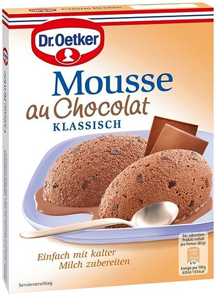 Dr. Oetker Mousse AU Chocolat (Pack de 8, 8 x 92 g Paquete