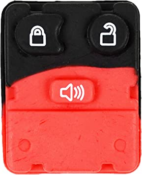 qualitykeylessplus Replacement 4 Button Rubber Pad for Nissan Remote Key Fob with Free KEYTAG