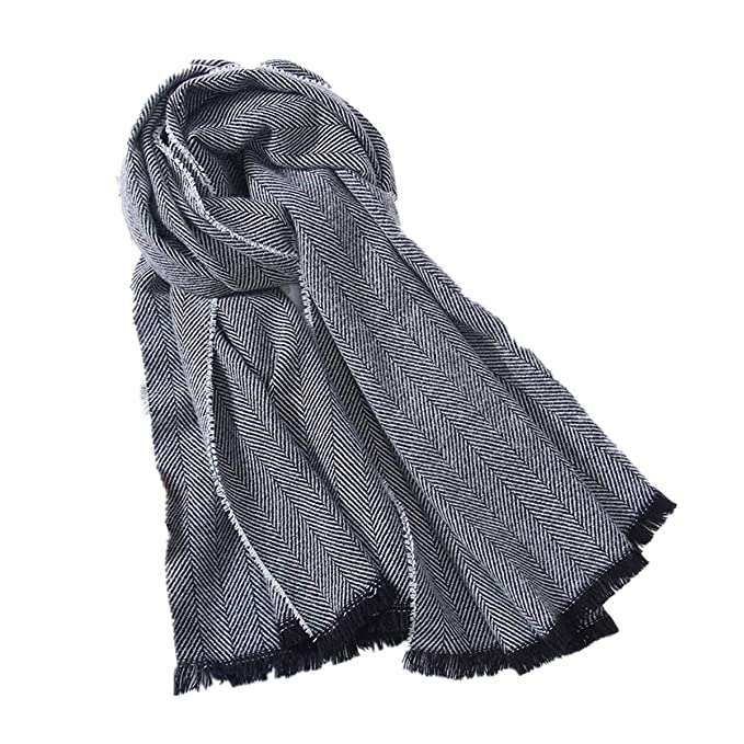 e197279098610 Christmas Women's Cozy Warm Winter Fall Blanket Scarf Stylish Soft Checked Scarves  Shawl Cape(Grey