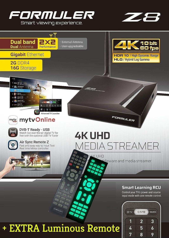 FORMULER Z8 Android Dual Band 5G Gigabit LAN 2GB RAM 16GB ROM 4K + Extra Luminous Remote