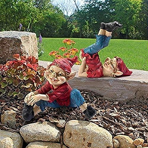 Design Toscano LY959066 Eccentric Elves Garden Gnome Statue