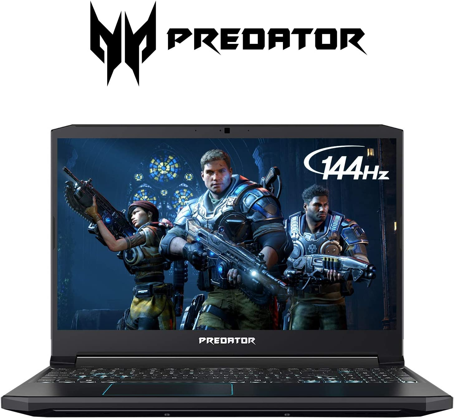 "Acer Predator Helios 300 Gaming Laptop PC, 15.6"" Full HD 144Hz 3ms IPS Display, Intel i7-9750H, GeForce GTX 1660 Ti 6GB, 16GB DDR4, 512GB NVMe SSD, RGB Keyboard, PH315-52-72RG"