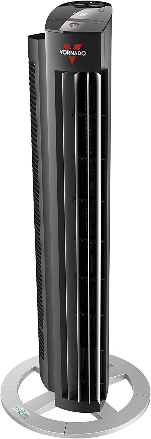"""Vornado NGT33DC Energy Smart Tower Air Circulator Fan with Variable Speed, 33"""""""