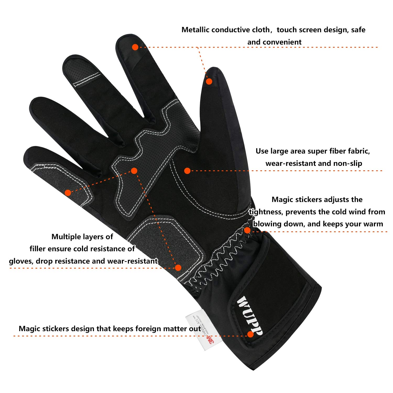 3169e1c5addb Amazon.com : LAIABOR Motorcycle Gloves Winter Riding Full Finger ...