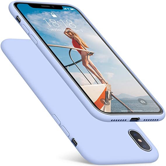 the best attitude 9c0f5 de3eb DTTO Case for iPhone Xs Max, [Romance Series] Silicone Case with Hybrid  Protection for Apple iPhone Xs Max 6.5 Inch (2018 Released) - Light Blue