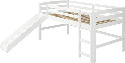 Woodcrest Mini Slide Loft Bed