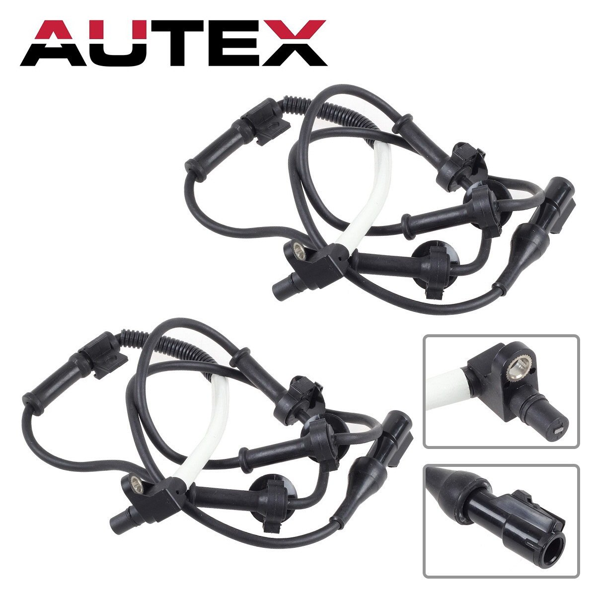 AUTEX 2PCS Front Left + Front Right ABS Wheel Speed Brake Sensor XL2Z2C204AB compatible with 1995-2001 Ford Explorer 4WD/2001 2002 2003 2004 2005 Ford Explorer Sport Trac 4.0L Ranger Mazda B4000 4WD PartsSquare
