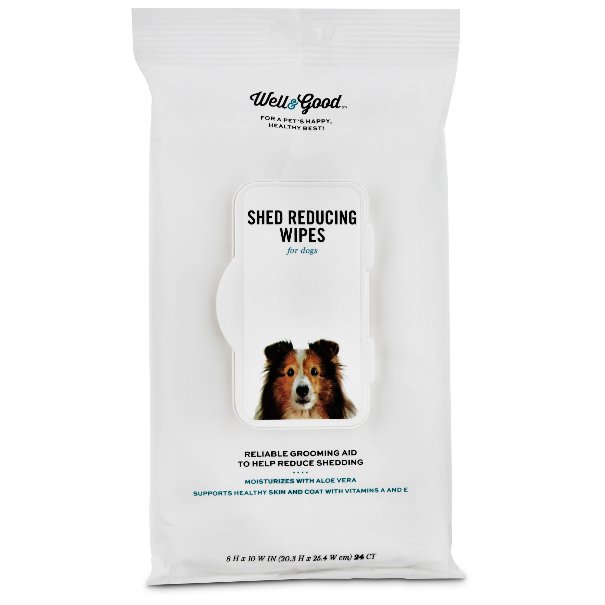 Well & Good Shed Reducing Dog Wipes, Pack of 24