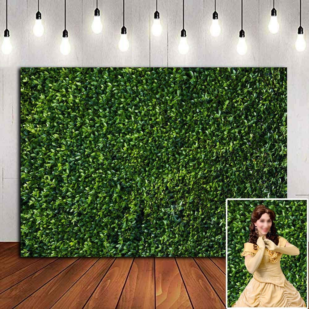 Spring Nature 3D Green Leaves Photography Background 7x5ft Newborn Baby Shower Photo Backdrops Wedding Bridal Shower Birthday Party Decor Safari Party Banner Props Cake Table Supplies Booth Vinyl