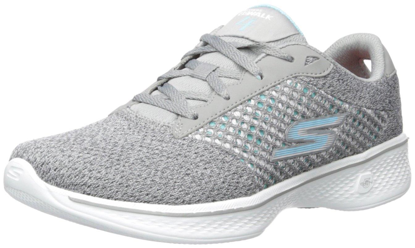 Skechers Performance Women's Go 4-Exceed Walking Shoe, Gray, 7 M US