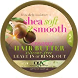 OGX Silicone-Free Frizz-Defy Moisture + Shea Soft and Smooth Creamy Hair Butter, 6.6 Ounce