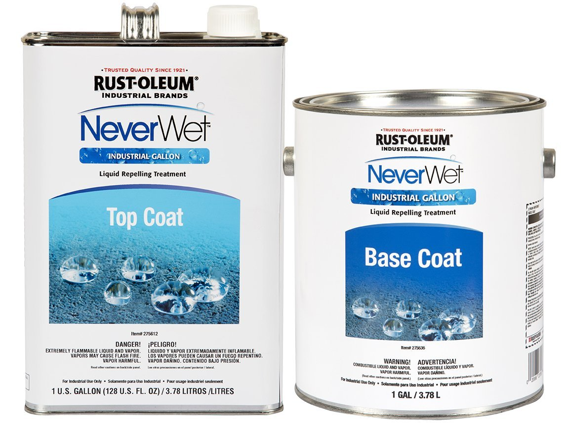 Rust-Oleum 277248 NeverWet Liquid Repelling Treatment Industrial Kit, 2-Gallon, Cloudy Clear