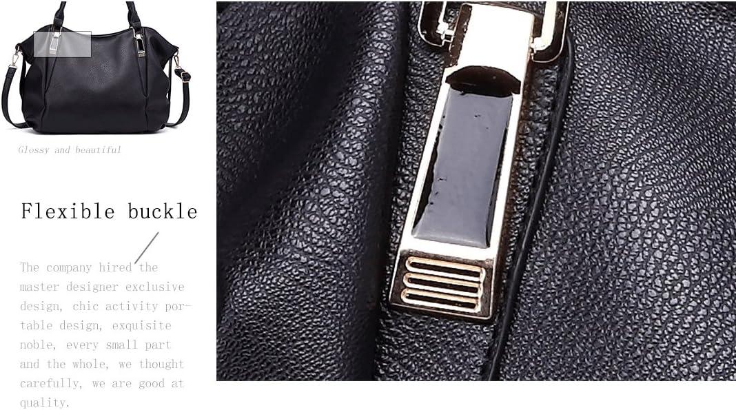 grigio Miss Lulu Borse a tracolla Nuova moda Casuale hobos Pelle sintetica Funzionale borsetta
