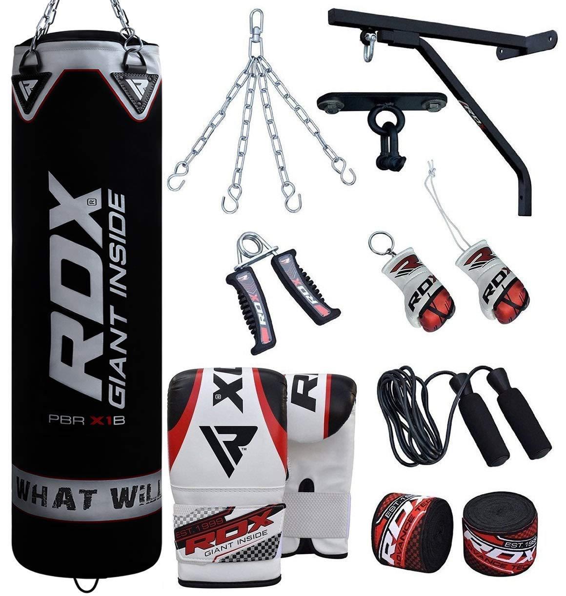 Amazon.com: Saco de boxeo RDX relleno soporte de pared ...