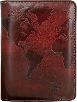 Girl Map Car Leather Passport Holder Cover Case Travel One Pocket