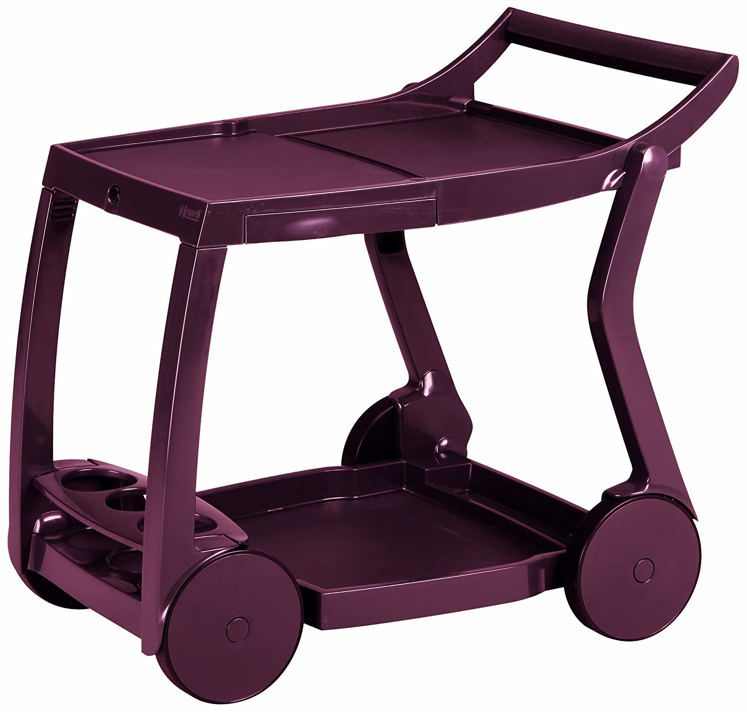 Best Galileo 18480040 Serving Trolley bordeaux Red
