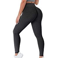 KUNISUIT Women's High Waisted Workout Leggings Butt Lifting Scrunch Booty Yoga Pants Tummy Control Tights