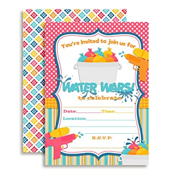 amazon co jp water wars girls birthday party fill in invitations