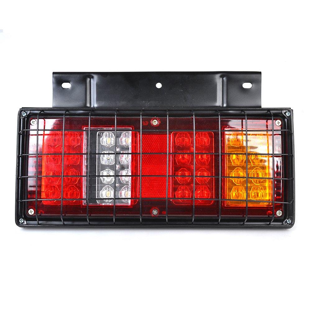 Wohnmobil als R/ücklichter Bremslichter Wohnanh/änger Reelva 1 Paar 12/V-LED-Lichter f/ür LKW Blinker R/ückfahrleuchte 64/LEDs Kontrollleuchte