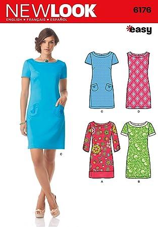Simplicity 6176 UK-Größe A 8/10/12/14/16/18 (34-48) Kleid mit Ärmeln ...