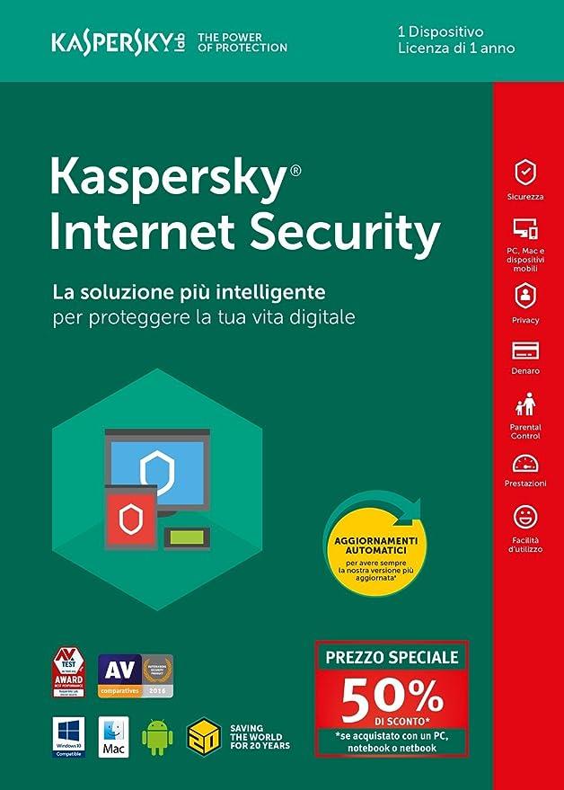 78 opinioni per Kaspersky Lab KL1941T5AFS-8SATT Internet Security 2018 1 User Attach Deal 1 Year