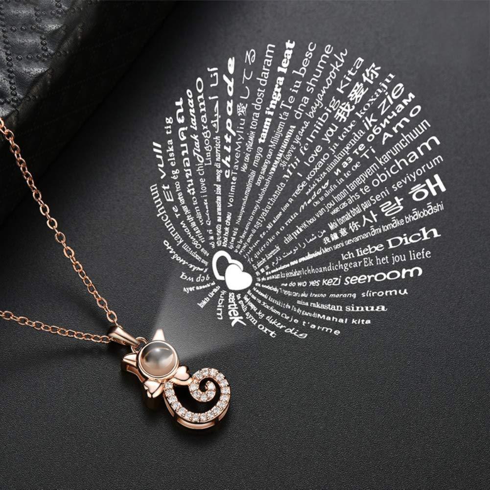 xbwwt Bracelet pour Dames 100 Je taime Amour Projection de la m/émoire Bracelet Cha/îne de Poignet Titane Acier Femme Bijoux