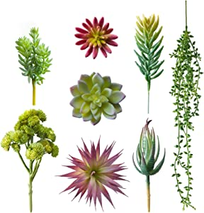Magbeauty Mini Succulents Artificial Unpotted - Assorted Realistic Artificial Succulents for Home Decor, Office