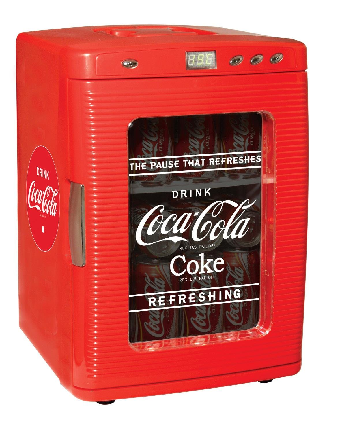 Coca Cola KWC-25 28-Can Capacity Portable 12-V Car Fridge with LED Display