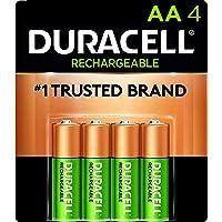 Duracell - Baterías recargables AA de hasta 400 recargas, 4 unidades