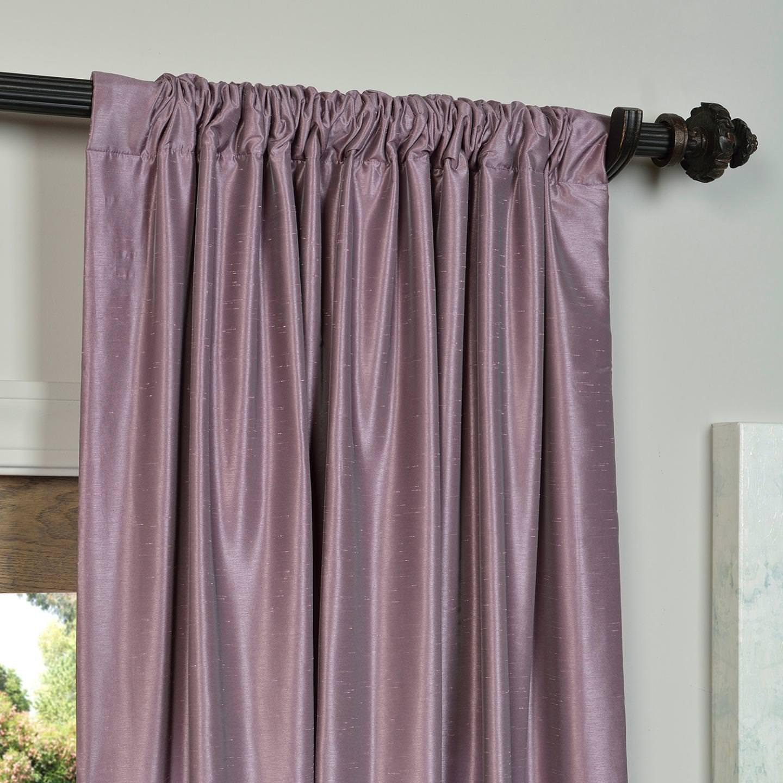 Amazon.com: Half Price Drapes PDCH KBS11 108 Vintage Textured Faux Dupioni  Silk Curtain, 50 X 108, Smokey Plum: Home U0026 Kitchen