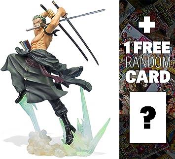 """【クリックでお店のこの商品のページへ】Roronoa Zoro (超Tigerハント) : ~ 7.8?"""" One Piece X Tamashii Nations Figuarts Zero Statueフィギュア+ 1?Free official日本One Piece Tradingカードバンドル"""