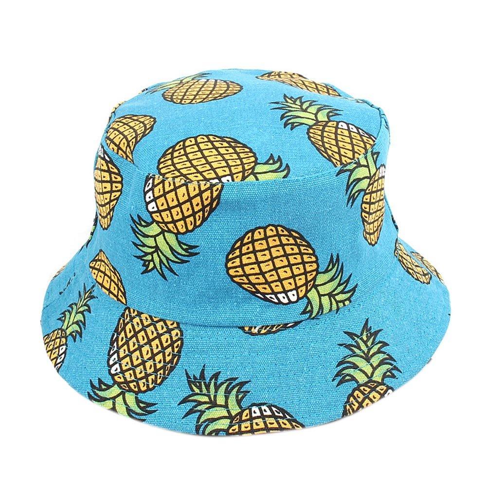 BIBITIME Unisex Fruit Print Bucket Hat Pineapple Double-Sided Wear Beach Fishing One Size) 3