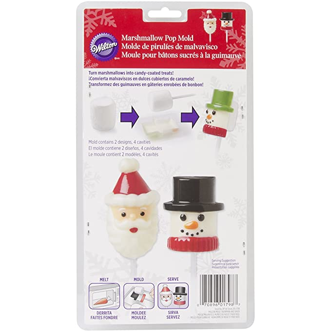 Amazon.com: Wilton 2115-1798 Marshmallow Candy Mold, Snowman and Santa: Candy Making Molds: Kitchen & Dining