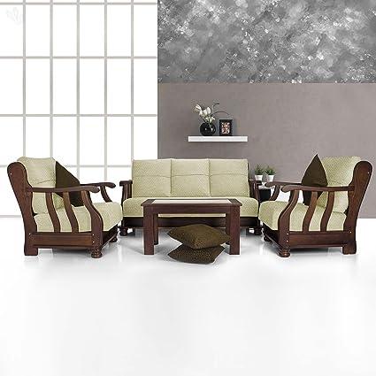 Vive Prestige Five Seater Sofa Set 3+1+1 (Beige): Amazon.in ...