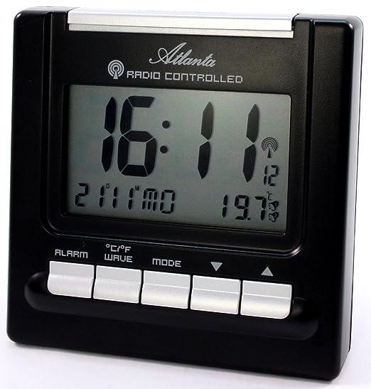 Atlanta Radio Despertador Digital LCD iluminación 2 alarmas ...