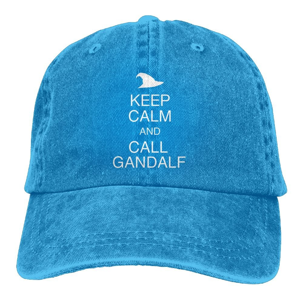 Keep Calm and Call Gandalf Plain Adjustable Cowboy Cap Denim Hat for Women and Men