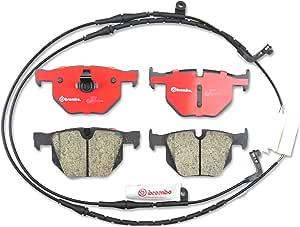 Rear Ceramic Brake Pad Set w// Sensors Brembo P06033N Fits BMW X5 xDrive 35d