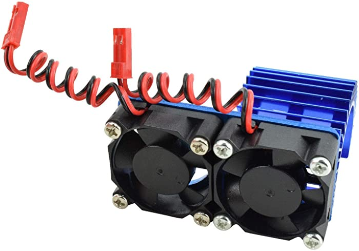 Apex RC Products 540/550 Aluminum Heat Sink W/Two 30mm Fans - 3 Colors to Choose from (Blue)