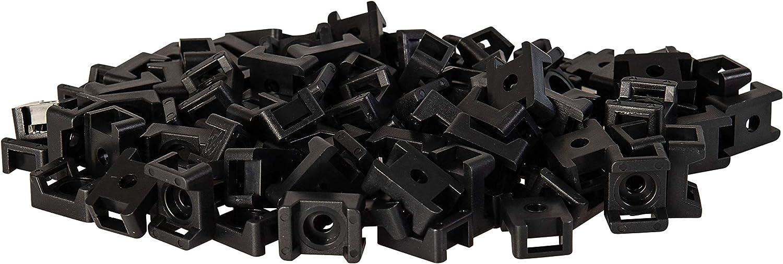 Trou de vis de 4 mm Fixation de c/âble Attaches de c/âble jusqu/à 5 mm de large M4 GTSE Lot de 100 attaches de c/âble noires /à visser