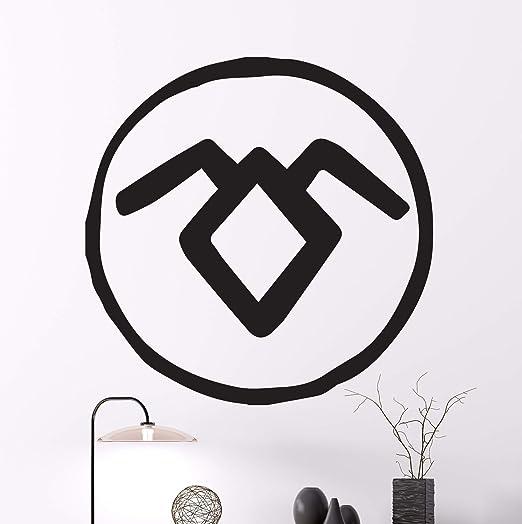Amazon Com Manukadesigns Black Lodge Logo Wall Decal Twin Peaks Vinyl Sticker American Mystery Horror Drama Television Serie By David Lynch Cg351 22 Width X 22 Height Home Kitchen
