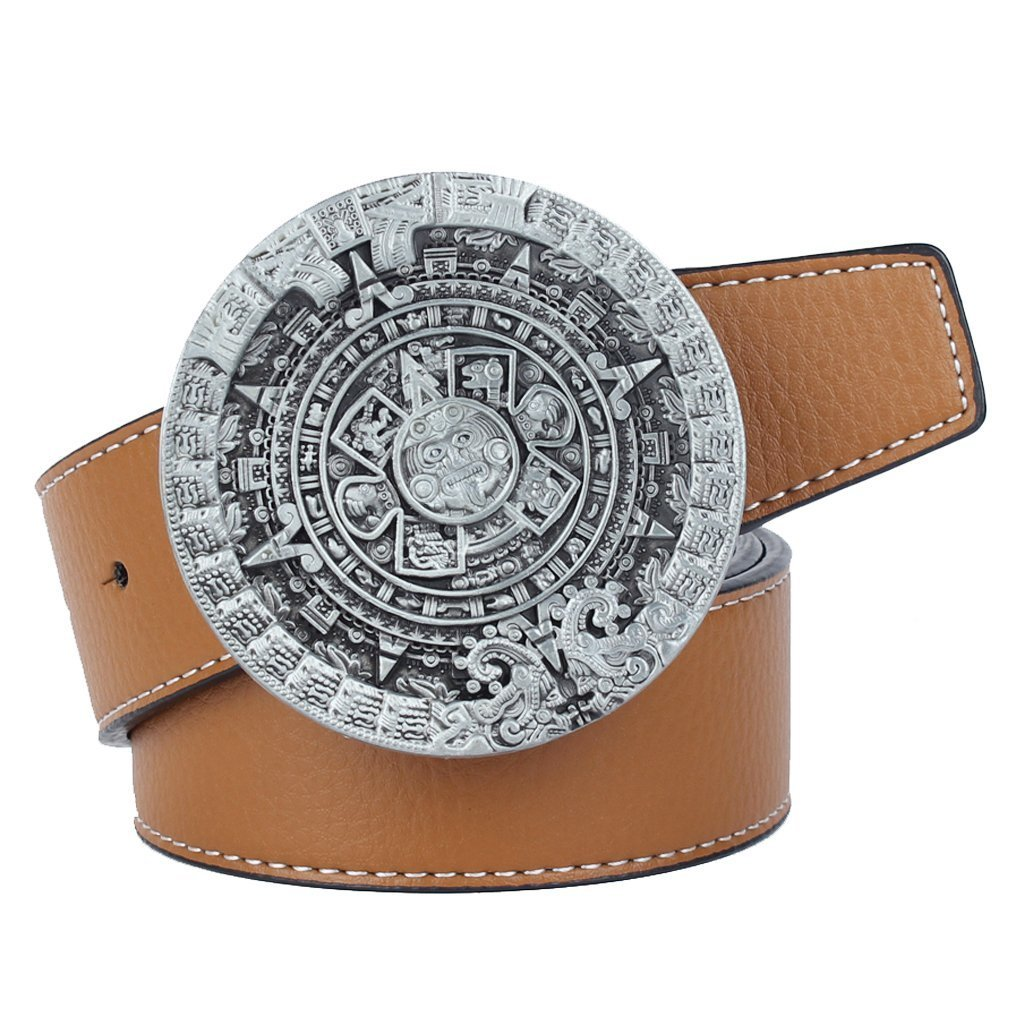Blesiya Ancient Aliens Maya Calendar Belt Buckle Novelty Jeans Accessories